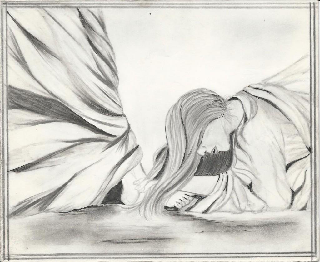 Woman at Jesus feet Artist: Wannita Bush