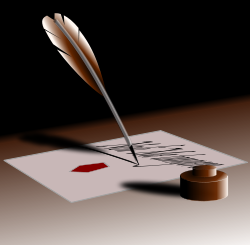 PHM ink and quill clipart pen pal
